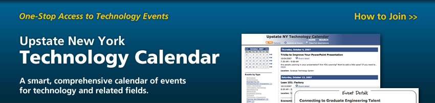 Upstate New York Technology Calendar